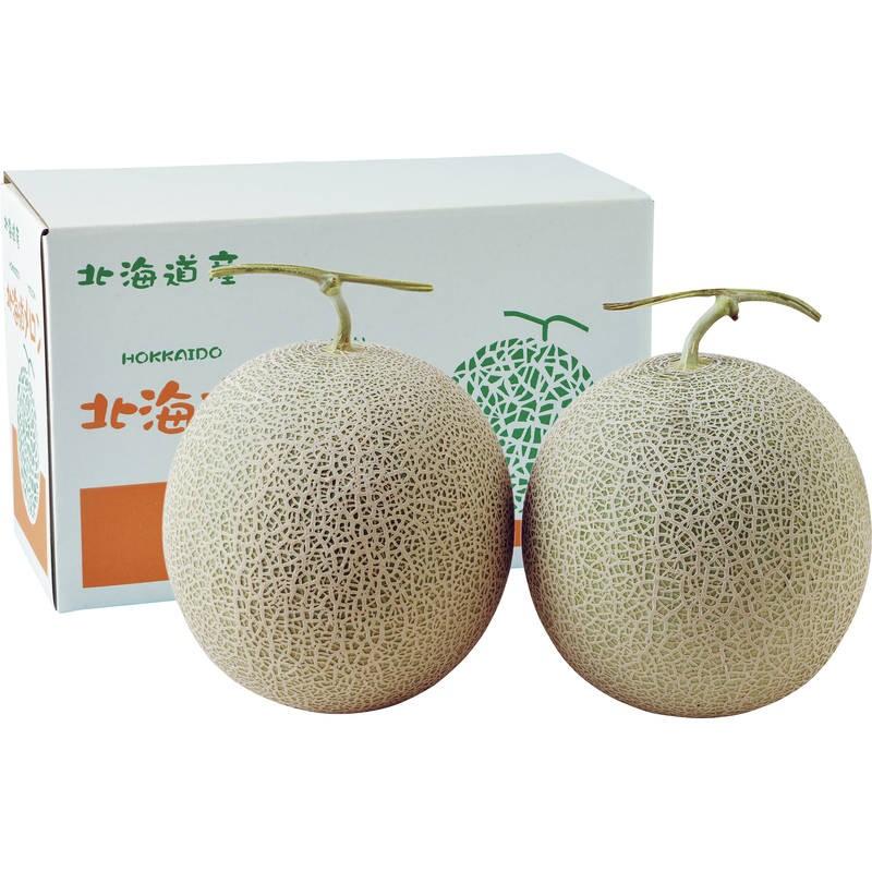【季節限定】北海道赤肉メロン1.3kg×2 ※予約商品(7月下旬から8月上旬荷予定)