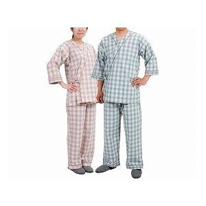 特殊衣料 寝巻き セパレートタイプ 婦人用 /0730 タータンピンク M