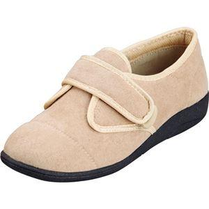 マリアンヌ製靴 彩彩~ソフト~ケアシューズ 通常インソールタイプ W801 /21.5cm ベージュ