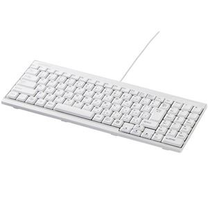 バッファロー(サプライ) USB接続 有線スリムキーボード ホワイト BSKBU14WH