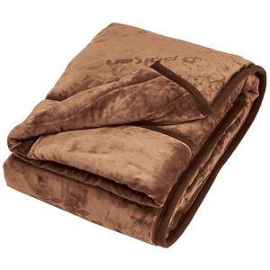 わた入り 毛布掛け布団/寝具 【ブラウン シングル】 洗える 吸湿発熱 マイクロファイバー 『ファイテン PHITEN 星のやすらぎ』