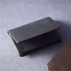 リザード名刺入れ ブラック K91009240