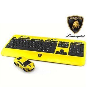LANDMICE Lamborghini LP700 2.4G無線マウス+キーボード (イエロー) LB-LP700KM-YL