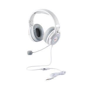 エレコム ゲーミングヘッドセット HS-G60 オーバーヘッド ホワイト HS-G60WH