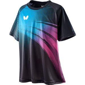 Butterfly(バタフライ) 卓球Tシャツ FRIPLE T-SHIRT フリプル・Tシャツ 男女兼用 マリン×ロゼ M