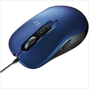 (まとめ)サンワサプライ 有線ブルーLEDマウス ブルー MA-BL114BL 1個【×2セット】