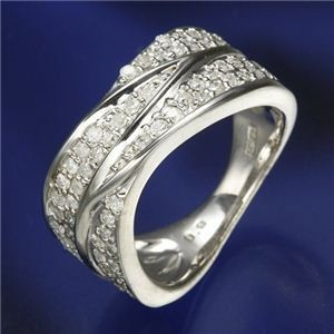 0.6ctダイヤリング 指輪  ワイドパヴェリング 9号
