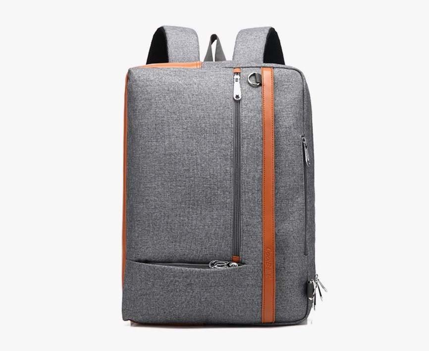 ビジネスバッグ メンズ リュック 3WAY PCバッグ 就活 14インチパソコン対応 ショルダー 手提げ 斜めがけ 鞄 大容量 グレー/G170820a