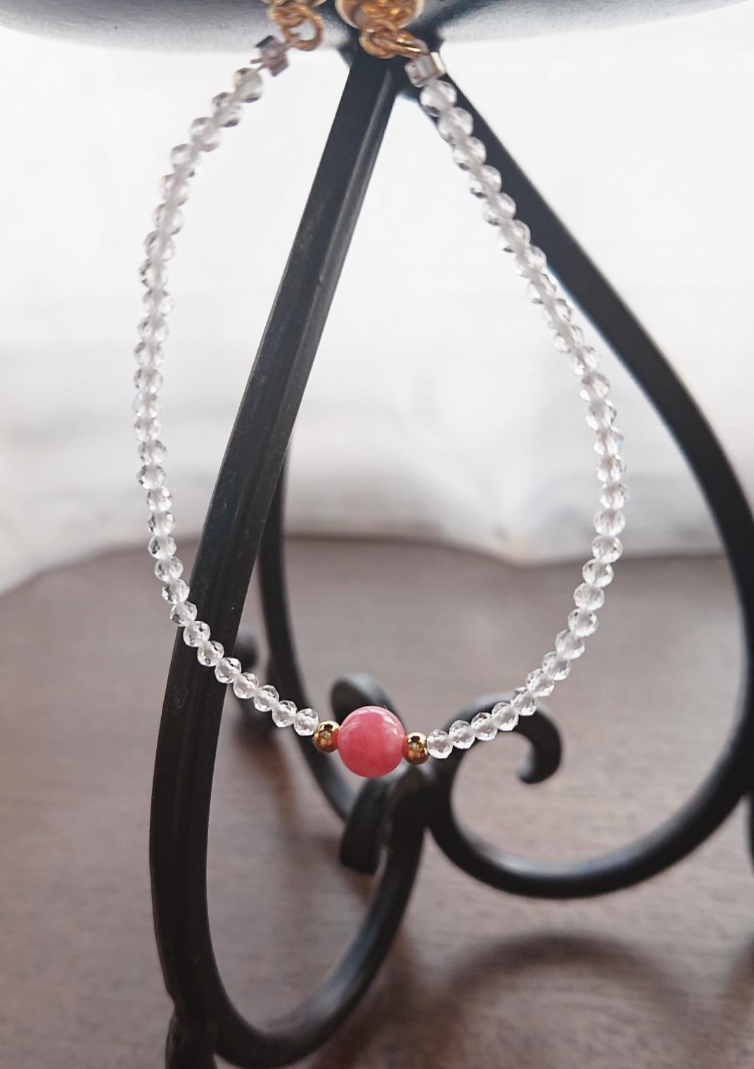 天然石ブレスレット(水晶)