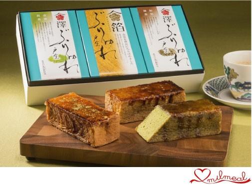 金澤ブリュレ戸室3個セット(金箔・棒茶・抹茶)