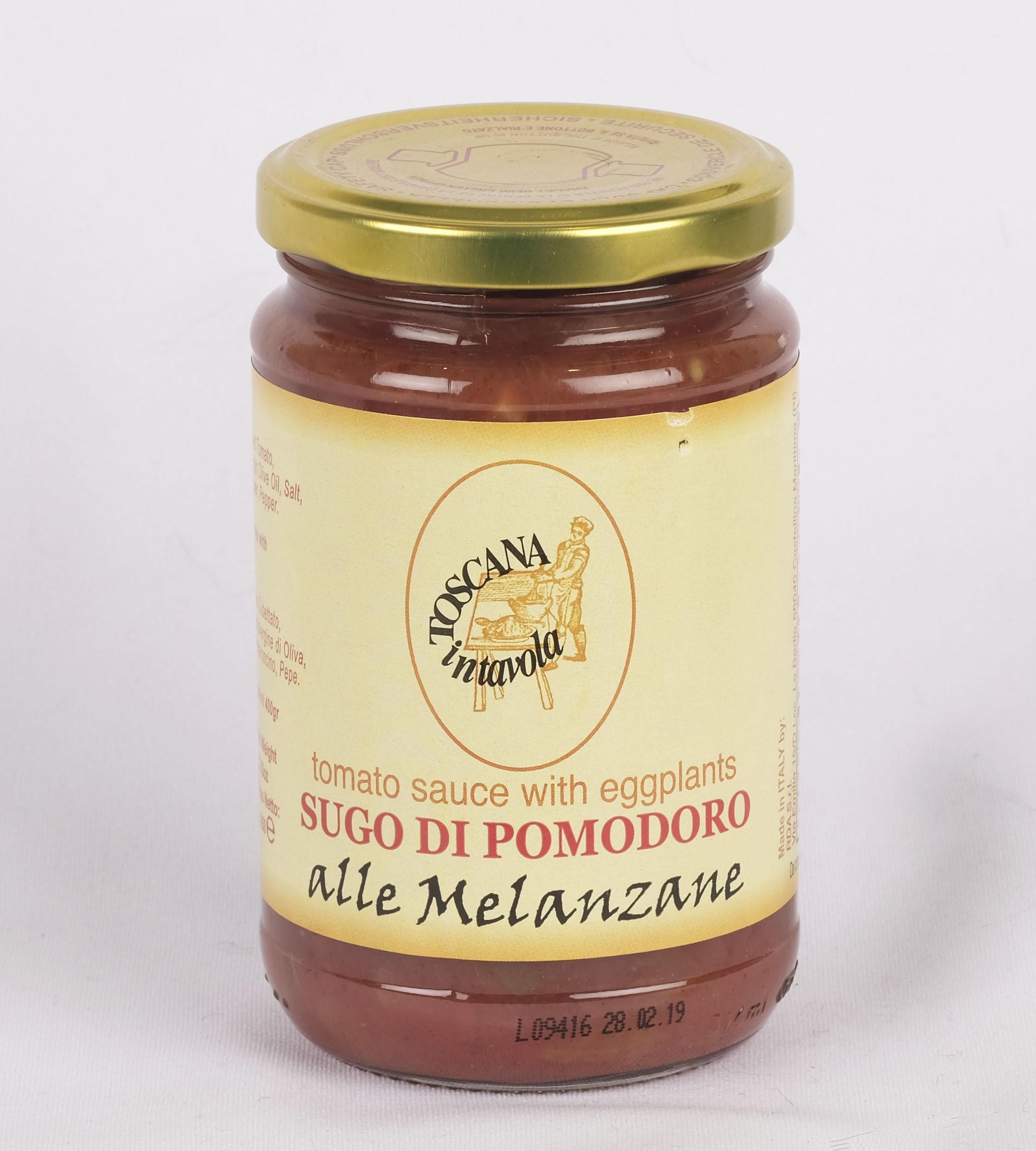 トスカーナインターボラ パスタソース ナスのトマトソース