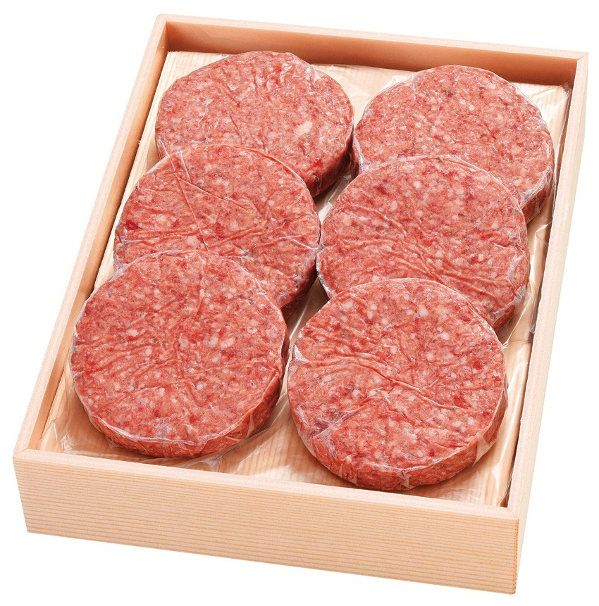送料無料 沖縄発信 熟成和牛と完熟島豚のハンバーグ(ギフトセット) 120g×6個(ソース付)