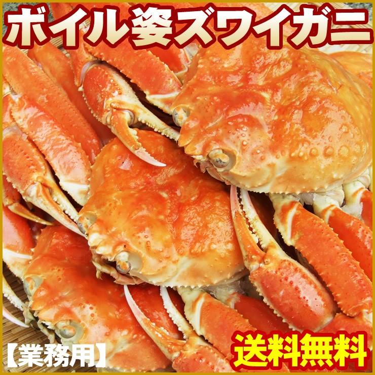 【送料無料】【ボイル姿ズワイガニ(大サイズ)】3kg(5-6尾入)[冷凍]
