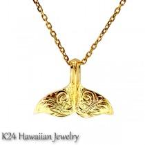 ハワイアンジュエリー K24 純金 コーティング ペンダント