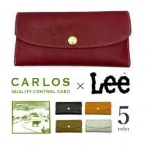 【全5色】 LEE リー × CARLOS カルロスレザー 高級グローブレザー 三つ折り長財布
