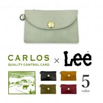 【全5色】 LEE リー × CARLOS カルロスレザー 高級グローブレザー コインパスケース