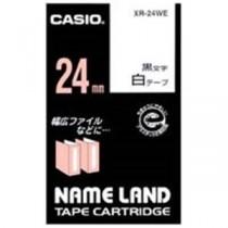 カシオ計算機(CASIO) ラベルテープ XR-24WE 白に黒文字 24mm 5個