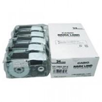 カシオ計算機(CASIO) テープ XR-24WE-5P-E 白に黒文字 24mm 5個