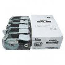 カシオ計算機(CASIO) テープ XR-24X-5P-E 透明に黒文字 24mm 5個