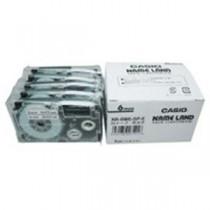 カシオ計算機(CASIO) テープ XR-6WE-5P-E 白に黒文字 6mm 5個