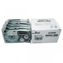 カシオ計算機(CASIO) テープ XR-6X-5P-E 透明に黒文字 6mm 5個