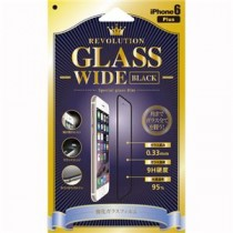 Revolution Glass Wide Black iPhone6Plus用 0.33mm液晶保護ガラスフィルム RGWDBP