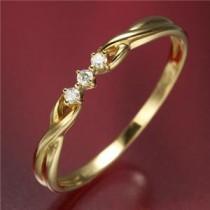【訳あり・在庫処分】K18ダイヤリング 指輪デザインリング 7号