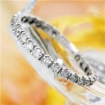 プラチナPt900  0.5ctダイヤリング 指輪エタニティリング 17号