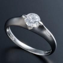 プラチナPt900 0.5ct Dカラー・IFクラス・EXカットダイヤリング 指輪(GIA鑑定書付き) 7号