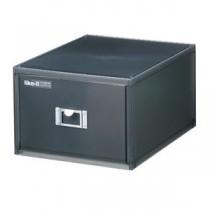 吉川国工業所 ライフモデュール DVDファイルユニット ブラック LM-40