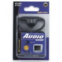 (まとめ) ELPA テレビ用耳かけイヤホン 3.5φミニプラグ ホワイト 3m RE-30(BK) 【×10セット】