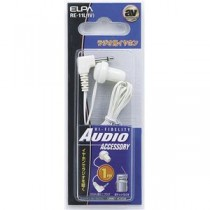 (まとめ) ELPA ラジオ用イヤホン 3.5φL型ミニプラグ ホワイト 1m RE-11L(IV) 【×30セット】