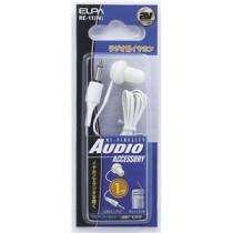 (まとめ) ELPA ラジオ用イヤホン 3.5φミニプラグ ホワイト 1m RE-11(IV) 【×30セット】