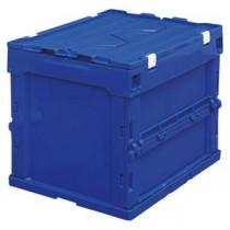 (業務用セット) アイリスオーヤマ ハード折りたたみコンテナフタ一体型 ブルー HDOH-20L ブルー 1個入 【×2セット】