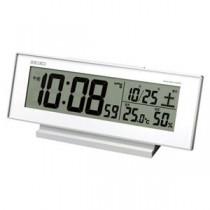 (まとめ) セイコー 置時計 (電波時計) 夜でも見える電波時計 SQ762W 1個入 【×2セット】