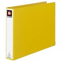 (まとめ) コクヨ データバインダーT(バースト用・ワイドタイプ) T11×Y15 22穴 450枚収容 黄 EBT-551Y 1冊 【×5セット】