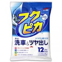(まとめ) ソフト99 フクピカ 洗車&ツヤ出し 1パック(12枚) 【×5セット】