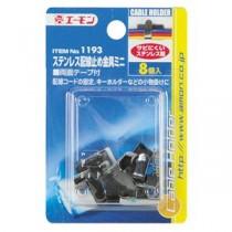 (まとめ) ステンレス配線止め金具ミニ 1193 【×30セット】