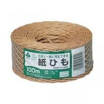 (まとめ) マルアイ 紙ひも 茶 【×10セット】