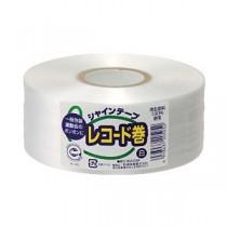 (まとめ) シャインテープ(レコード巻) 白 【×5セット】