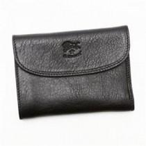 IL BISONTE(イルビゾンテ) 三つ折り財布(小銭入れ付) C0972 153 BLACK