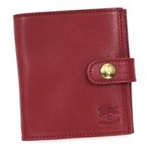 IL BISONTE(イルビゾンテ )二つ折り財布(小銭入れ付)  C0955 245 ROSSO RUBINO