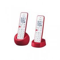 SHARP JD-S08CW-R デジタルコードレス電話機 子機2台 レッド系