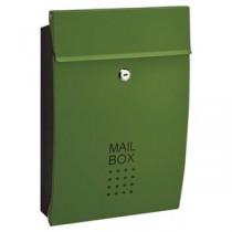 郵便受け/メールボックス 【グリーン】 幅260mm 重さ1.8kg 鍵×2本付き スチール製 〔玄関 エントランス〕