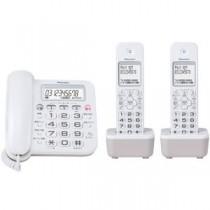 パイオニア デジタルコードレス留守番電話機 子機2台付 ホワイト TF-SA16W(W)