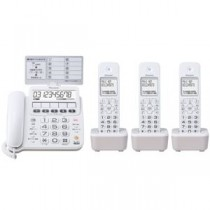 パイオニア デジタルコードレス留守番電話機 子機3台付 ホワイト TF-SE16T(W)