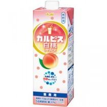 (まとめ)アサヒ飲料 カルピス 白桃 Lパック 1000ml 2E10N 1本【×5セット】