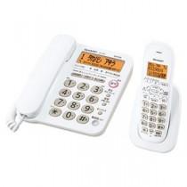 シャープ DECT1.9GHz快適デジタルコードレス電話機(子機1台タイプ) ホワイト系