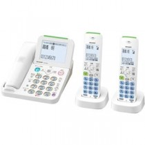シャープ デジタルコードレス電話機 子機2台タイプ ホワイト系
