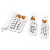 シャープ DECT1.9GHz快適デジタルコードレス電話機(子機2台タイプ) ホワイト系